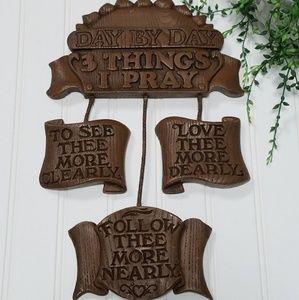 Vintage wall plaque